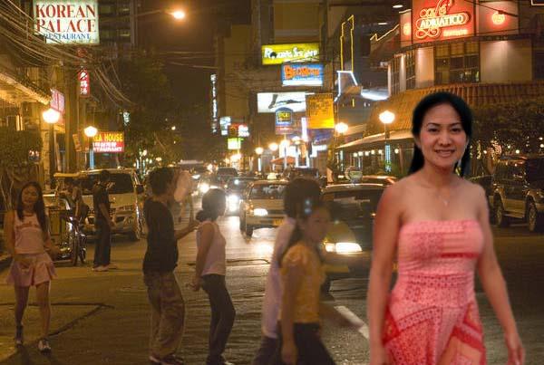 Filipinas in Manila street of Philippines